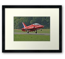 Red Arrow Take Off - Dunsfold 2013 Framed Print