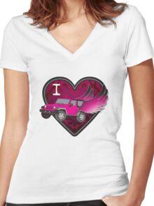 iheart Women's Fitted V-Neck T-Shirt