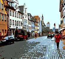 Streets of Rothenburg by Nathan Jekich
