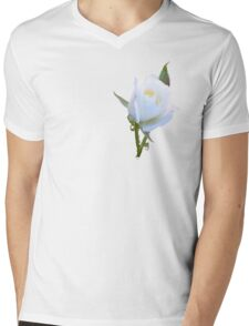 White Rose Mens V-Neck T-Shirt