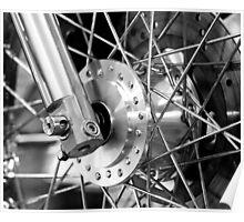 Motorcycle wheel Poster