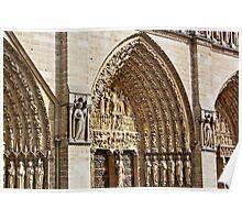 Notre Dame Facade Poster