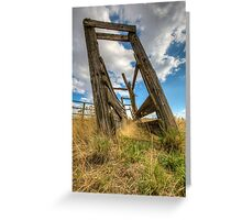 Cattle Squeeze Chute Greeting Card