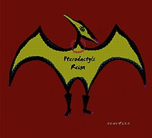 Pterodactyls Reign Red and Green by Sarah Curtiss