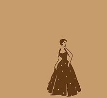 pretty vintage lady in brown elegant by jazzydevil