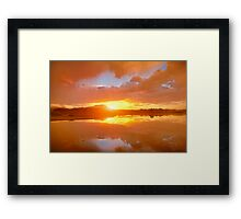 Dividing Sunset Framed Print