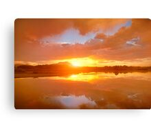 Dividing Sunset Canvas Print