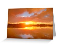 Dividing Sunset Greeting Card