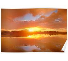 Dividing Sunset Poster
