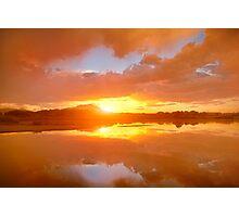 Dividing Sunset Photographic Print