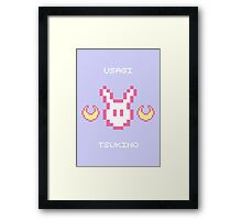 Pixel Usagi Framed Print