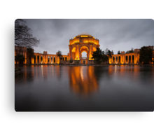 Palace of Fine Arts at Night Canvas Print