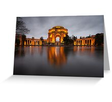 Palace of Fine Arts at Night Greeting Card
