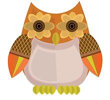 Harvest Owl - Orange by Adamzworld