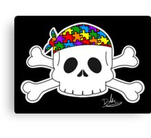 Autism Pirate Pride Canvas Print