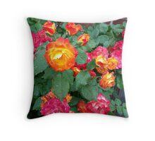 Red n orange Roses Throw Pillow