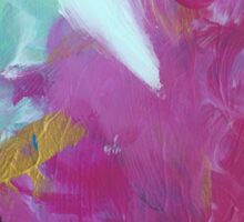Abstract Painting in mint and magenta 09/18 Sticker