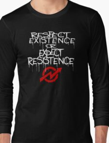 resistance white and red Long Sleeve T-Shirt