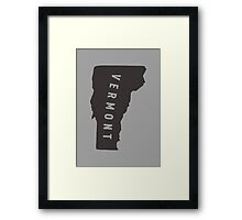 Vermont - My home state Framed Print