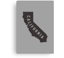 California - My home state Canvas Print