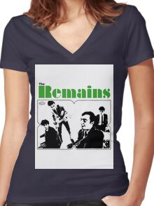 THE REMAINS 60S PUNK POWERPOP NUGGETS COOL T-SHIRT Women's Fitted V-Neck T-Shirt