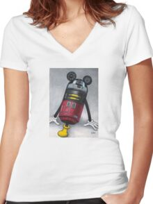 M2M2 (R2D2) Women's Fitted V-Neck T-Shirt
