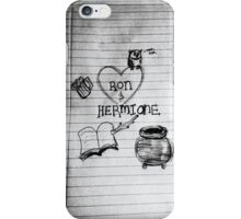 Ron and Hermione. iPhone Case/Skin