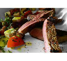 Steak & Salad Photographic Print