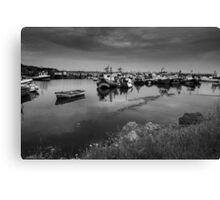 Paddy's Hole Black & White Canvas Print