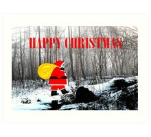 HAPPY CHRISTMAS 60 Art Print