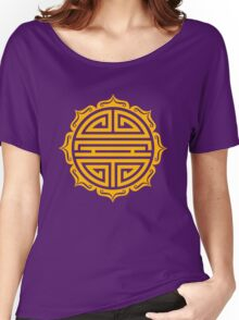 Shou Lotus , Chinese good luck charm, long life Women's Relaxed Fit T-Shirt