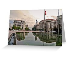 Reflections in DC Greeting Card
