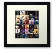 (Fictional) Videogame Heroines ABC Framed Print