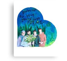 Animal Collective Valentine Canvas Print