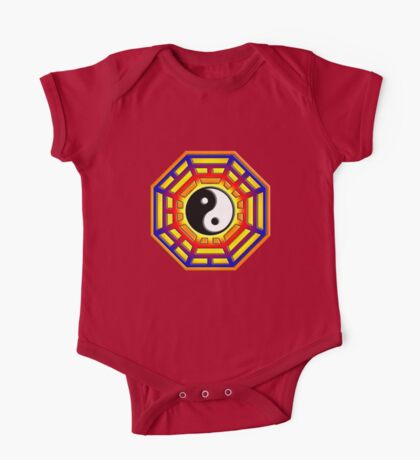 Bagua, Pakua, Yin Yang, Chi, Feng Shui, Martial Arts One Piece - Short Sleeve