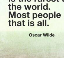 Oscar Wilde Quote Sticker
