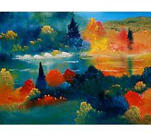 Autumn At Belgrade Lake Photographic Print