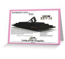 The 'Byteware' 'Rev-16' Vintage Print Ad Greeting Card