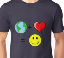 Earth Plus Love Unisex T-Shirt