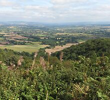 The Vale of Evesham from The Malvern Hills by AllJDesigns