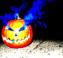 Smoke Bomb Pumpkin - Blue by Hallowaltz