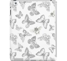 Black and White Insect Pattern iPad Case/Skin