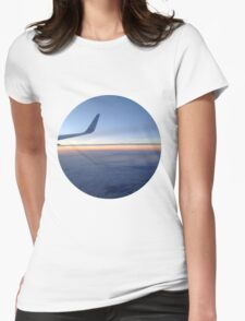 Flying Over the Pacific Womens Fitted T-Shirt