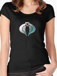Cobra Logo Silverish Women's Fitted Scoop T-Shirt