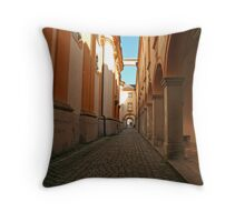 Long Hall of Melk Abbey in Austria Throw Pillow