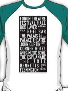 Melbourne Music Venue Tram Roll T-Shirt