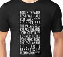 Melbourne Music Venue Tram Roll Unisex T-Shirt