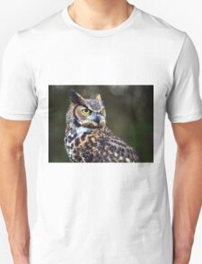 Great Horned Owl Close Up Unisex T-Shirt