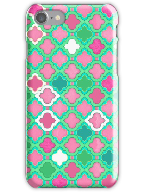 Girly Moroccan Lattice Pattern by micklyn
