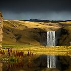 Skogafoss after storm by LJWPhotography